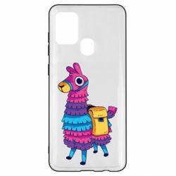 Чехол для Samsung A21s Fortnite colored llama