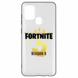 Чехол для Samsung A21s Fortnite season 2 gold