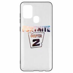 Чехол для Samsung A21s Fortnite text chapter 2
