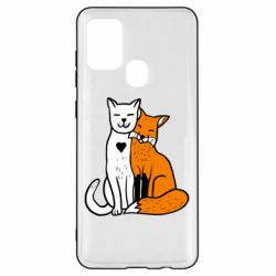 Чохол для Samsung A21s Fox and cat heart