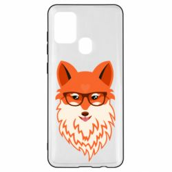 Чехол для Samsung A21s Fox with a mole in the form of a heart