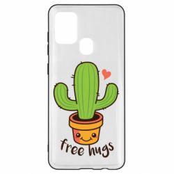 Чехол для Samsung A21s Free Hugs Cactus