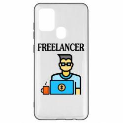 Чехол для Samsung A21s Freelancer text