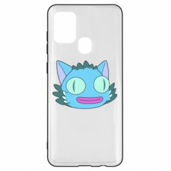 Чехол для Samsung A21s Funny cat from Rick and Morty season 4