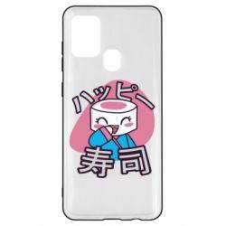 Чехол для Samsung A21s Funny sushi