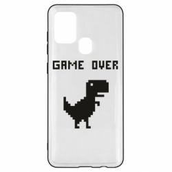Чехол для Samsung A21s Game over dino from browser