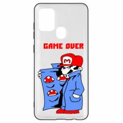 Чехол для Samsung A21s Game Over Mario