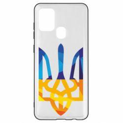 Чехол для Samsung A21s Герб из ломанных линий
