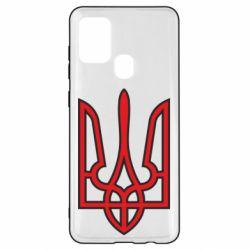 Чохол для Samsung A21s Герб України (двокольоровий)