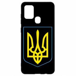 Чохол для Samsung A21s Герб України з рамкою
