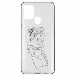 Чехол для Samsung A21s Girl after a shower