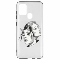 Чехол для Samsung A21s Girl and demon