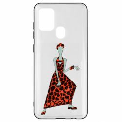 Чехол для Samsung A21s Girl in a dress without a face