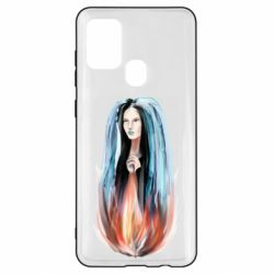 Чехол для Samsung A21s Girl in flame