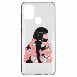 Чехол для Samsung A21s Girl with a square