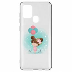 Чехол для Samsung A21s Girl with balloons