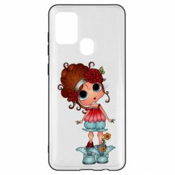 Чехол для Samsung A21s Girl with big eyes