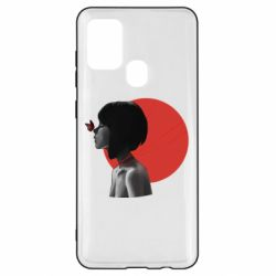 Чохол для Samsung A21s Girl with butterfly