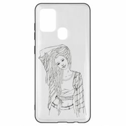 Чехол для Samsung A21s Girl with dreadlocks