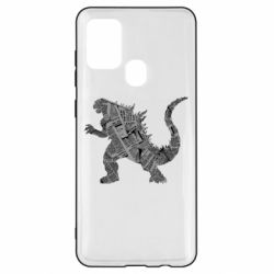 Чохол для Samsung A21s Godzilla from the newspapers