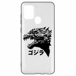 Чохол для Samsung A21s Godzilla in japanese
