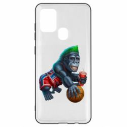 Чохол для Samsung A21s Gorilla and basketball ball