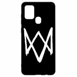Чехол для Samsung A21s Graffiti Watch Dogs logo
