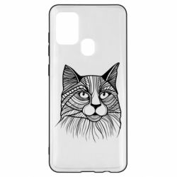 Чохол для Samsung A21s Graphic cat