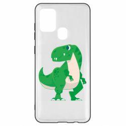 Чохол для Samsung A21s Green little dinosaur