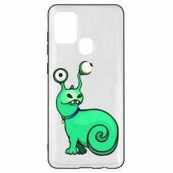 Чехол для Samsung A21s Green monster snail