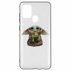 Чохол для Samsung A21s Grogu and Kermit