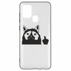 Чохол для Samsung A21s Grumpy cat F**k Off
