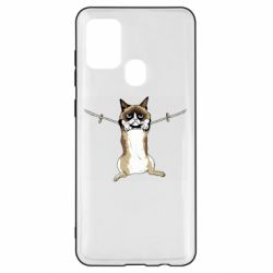 Чехол для Samsung A21s Grumpy Cat On The Rope