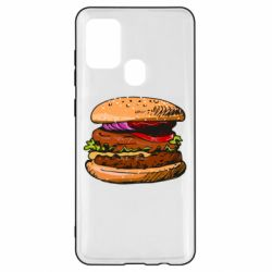Чехол для Samsung A21s Hamburger hand drawn vector