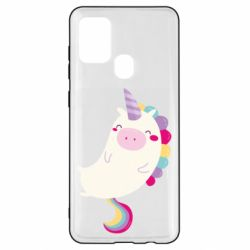 Чехол для Samsung A21s Happy color unicorn