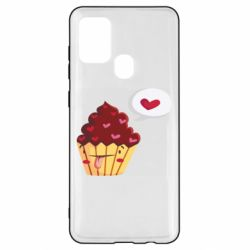 Чохол для Samsung A21s Happy cupcake