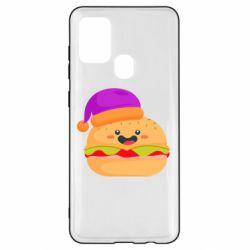 Чехол для Samsung A21s Happy hamburger