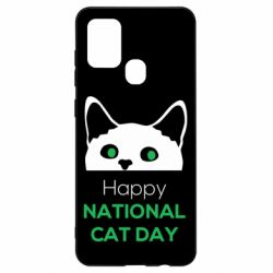 Чехол для Samsung A21s Happy National Cat Day