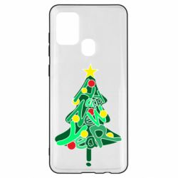 Чохол для Samsung A21s Happy new year on the tree