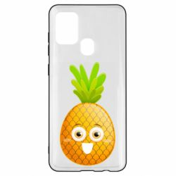 Чехол для Samsung A21s Happy pineapple