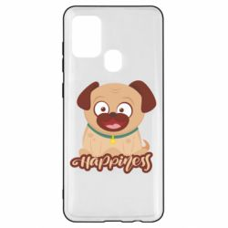 Чехол для Samsung A21s Happy pug