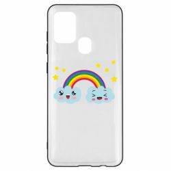 Чехол для Samsung A21s Happy rainbow