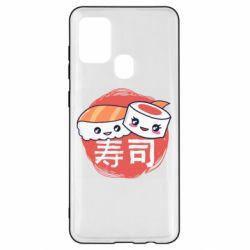 Чехол для Samsung A21s Happy sushi