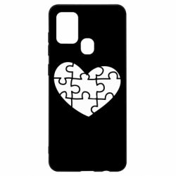 Чехол для Samsung A21s Heart and puzzle