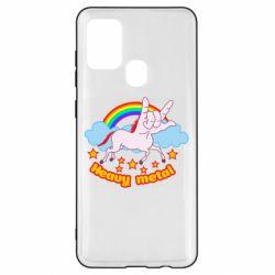 Чохол для Samsung A21s Heavy metal unicorn