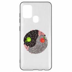 Чохол для Samsung A21s Hedgehogs yin-yang