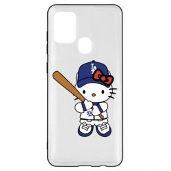 Чохол для Samsung A21s Hello Kitty baseball