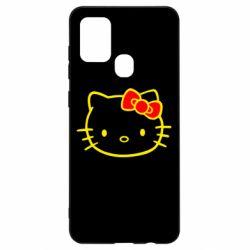 Чехол для Samsung A21s Hello Kitty logo
