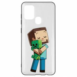 Чехол для Samsung A21s Heroes from Minecraft