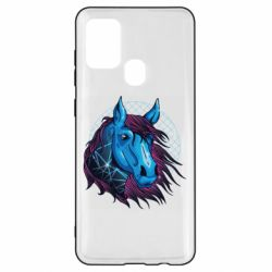 Чехол для Samsung A21s Horse and neon color